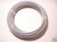 """Galvanized Wire Rope Cable 1/4"""", 7x19, 100 ft coil"""