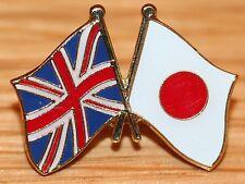 UK & JAPAN Japanese FRIENDSHIP Flag Metal Lapel Pin Badge Great Britain