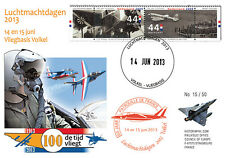 """PAF13-8T4 FDC NETHERLAND """"60 years French Patrol / ALPHAJET & MIRAGE 2000"""" 2013"""