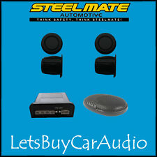 STEELMATE EBAT PTSC1 MATT BLACK REAR PARKING SENSOR KIT (WITH 4 SENSORS)