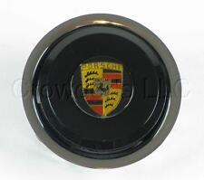 Nardi Classic  Steering Wheel Horn Button - Black with Porsche Crest Logo - NOS