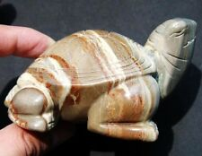 Big Natural Picasso Jasper Crystal Carving Art Turtle gift