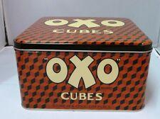 Vintage Style Retro Lidded Storage Tin - Small Oxo Cubes Red & Black Tin