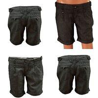 New 'Authentic Denim' Ladies Herringbone Shorts Hot Pant SIZE: 8 10 12 14 16