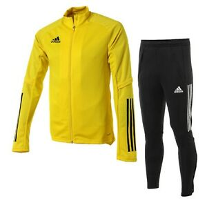 Adidas Men Condivo 20 Training Suit Set Yellow Soccer Jacket Pant FS7113-EA24752