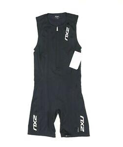 """2XU Men XL 29"""" Comp Trisuit MT1837d Black Triathlon Skinsuit"""