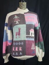 Alpaca Sweater 70s 80's Handmade Peru Vintage