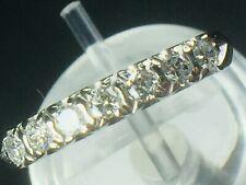 Platinum 0.56ctw genuine round Diamond anniversary ring..sz 5.25..3.3gm..