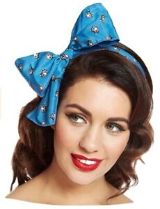 Cat Scarf Neck Tie Hair Wrap LINDY BOP Teal Vintage Style 40s 50s 60s BNWT
