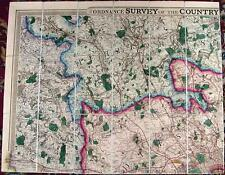 Antique map, Ordnance Survey of the County thirty miles round London