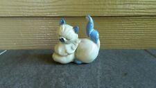 Vintage Kay Finch California Pottery Cat Figurine Muff