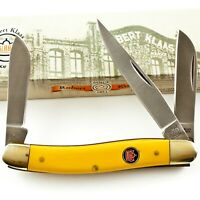 Robert Klaas Yellow Handles Stockman Folding Pocket Knife KC3328 3 Blades