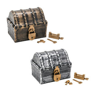 Pirates Treasure Chest Large Kids Boys Bedroom Storage Case Playroom Props