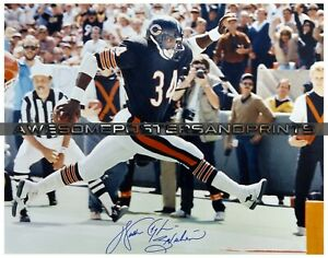 """NFL Chicago Bears, Walter Payton signed Large Photograph Reprint 11""""x14"""""""
