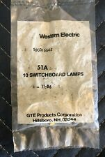 (10) WESTERN ELECTRIC 1A2  KEY TELEPHONE 51A LAMPS 10VAC FREE SHIPPING