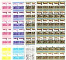 1930 LMS Duke of Sutherland Train Progressive Proof 50-Stamp Sheets x 8 (Imperf)