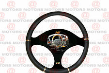 "Black Chrome Steering Wheel Cover Artificial Leather Fits All Car 14.37"" Luxury"