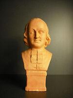 Bust 19th in Terracotta Man Church Standing Ecclesiastical Vigil Sculpture 24 CM