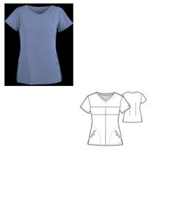 2XL Grey's Anatomy Signature 2 Pocket Soft V-neck Scrub Tops 2120X Silver Lake