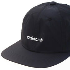 Adidas Originals Floppy 6 Panel Skateboard Strapback Cap Hat Black Trefoil