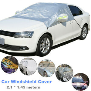 Universal Fit Windshield Snow Sun Shade for Cars Anti-Theft with Mirror Covers