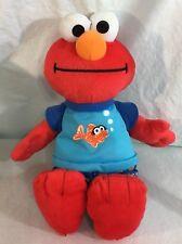 Sesame Street Plush Elmo Fish Pajamas Sleepy Time Brahms Lullaby Lovey