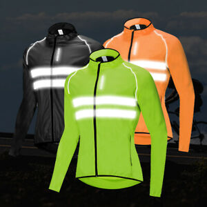 Mens Cycling Jacket High Vis Windproof Waterproof Breathable Running Hiking Coat