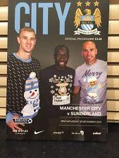 Manchester City v Sunderland City Barclay's Premier League 2015/2016 Programme