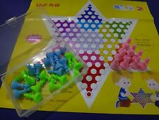 Draught chinese checker portable version children halma fast shipping