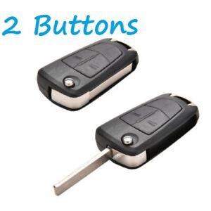 For Vauxhall Opel Corsa Astra Zafira 2 Button Remote Flip Key Fob Case + Logo