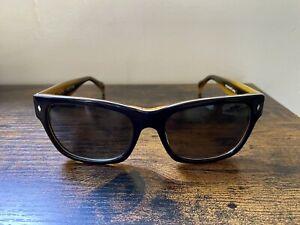 Tres Noir Optics The 45's Polarized Black & Honey Tortoise Hand Made in the USA
