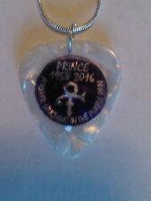 Guitar Pick Pendant Necklace 1958- 2016 Prince  tour necklace 18 inch Trending