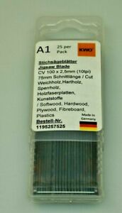 German High Quality Jigsaw Blades Compatible with Bosch T101B Pack of 25