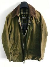 Mens Barbour Beaufort wax jacket Green coat 42in size Large / Extra Large L/XL 3