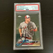 Mike Trout Signed 2018 Topps Stadium Club Baseball Card PSA DNA COA