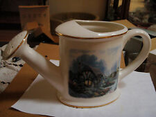 Porcelaine Water Can with Thomas Kinkade Painted Light Chandlers Cottage