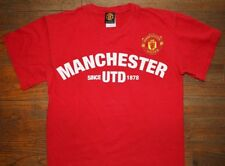 OFFICIAL MANCHESTER UNITED / SOCCER FOOTBALL ENGLAND UK / RED T-SHIRT SIZE S