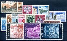 FRANZÖSISCH ANDORRA 1965-1967 191-206 ** POSTFRISCH KOMLETT JAHRGÄNGE (49190