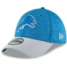 New Era Blue/Gray Detroit Lions Sideline Home Official 39THIRTY Flex Hat S/M