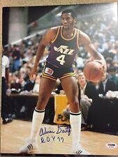 ADRIAN DANTLEY ROY 77 Signed Autograph Auto 11x14 Photo Picture Utah Jazz PSA