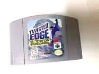 Twisted Edge Snowboarding Nintendo 64 N64 Game TESTED + WORKING & AUTHENTIC!