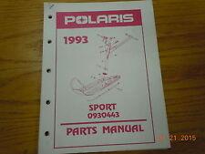 POLARIS 1993 SPORT PARTS MANUAL 0930443