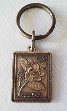 USA 32 Cent Stamp Keychain Brass Southern Magnolia Flower - Mississippi