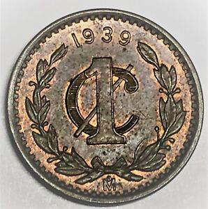 # C6326   MEXICO   COIN,   ONE CENTAVO    1939