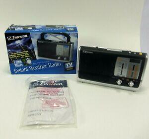 Emerson Weather Radio AM FM TV Band Emergency Prep Model RP6250