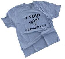 I void warranties tee mechanic automotive car mens medium tshirt