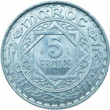 More details for coin / french morocco / 5 francs 1950 mint lustre     #wt23405