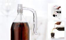 Pop Pourer 2 Liter Soda Pop Bottle Easy Pouring Handle Grip Clear Set of 2