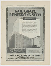 1929 Franklin Steel Works Advertisement: General Motors Research Lab Detroit, MI