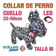 COLLAR PERRO CAMUFLAJE LED ROSA AJUSTABLE TALLA M CUELLO 32-50cm L32MR 3119